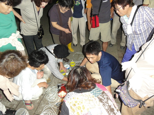 「ウミホタル観察会」リハーサル in せんなん里海公園_c0108460_22493362.jpg