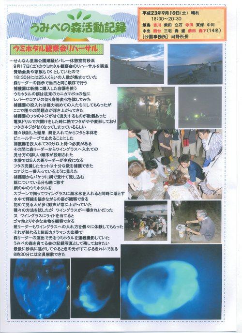 「ウミホタル観察会」リハーサル in せんなん里海公園_c0108460_23323627.jpg