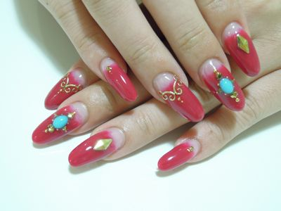Wine Red Nail_a0239065_22175351.jpg