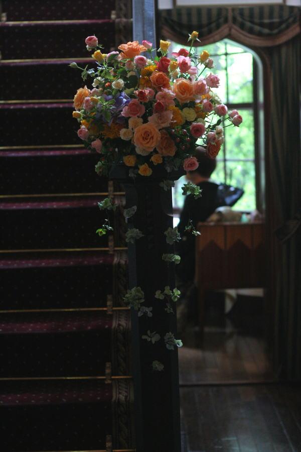 シェ松尾松濤レストラン様の装花 カラフル_a0042928_14483980.jpg