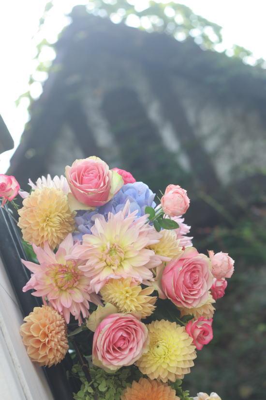 シェ松尾松濤レストラン様の装花 カラフル_a0042928_1450036.jpg
