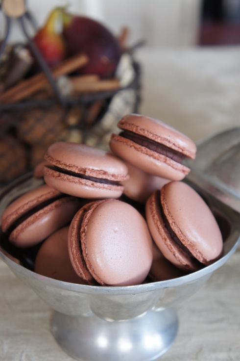 米粉ロールとチョコレートのマカロン_d0210450_912573.jpg