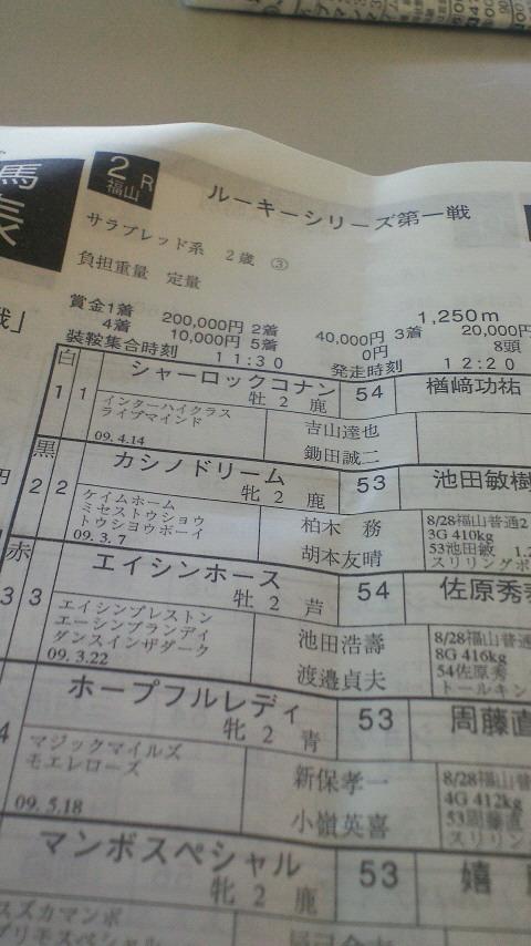 今日の福山競馬第2レース_c0001670_15329100.jpg