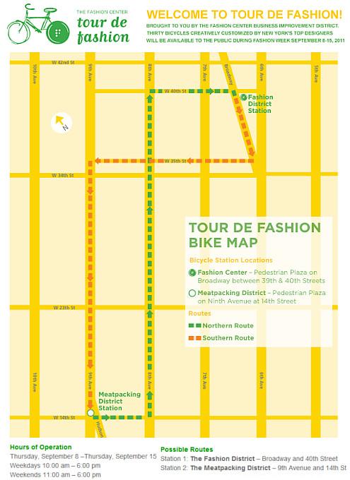 NYのファッション・デザイナー達がデザインした無料レンタル自転車?! Tour de Fashion_b0007805_20191848.jpg
