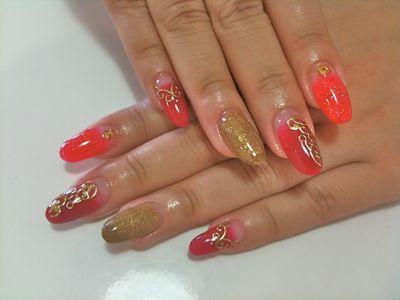 Red Rococo Nail_a0239065_141524.jpg