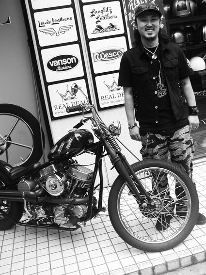 齊藤 勝良 & Harley-Davidson \'62 FLH(2011 0827)_f0203027_14352266.jpg