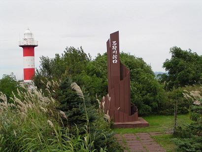 石狩灯台と旧石狩町中心部_f0078286_17273293.jpg