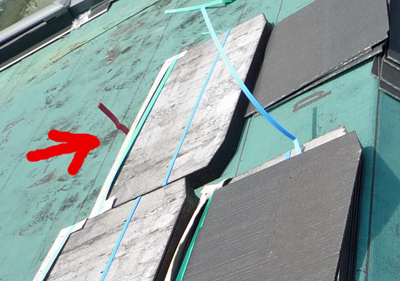 屋根材を敷きつめていきます_a0148909_734440.jpg
