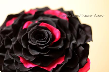 メリアブーケ 黒と濃いピンクで_c0198981_11505970.jpg