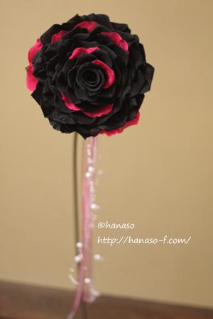 メリアブーケ 黒と濃いピンクで_c0198981_1151113.jpg