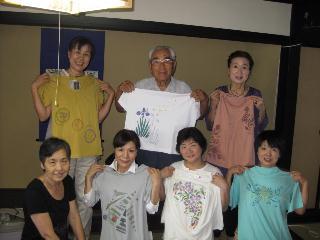 ファブリックステンシルの講習会とY田さんの誕生会をしました_c0134645_1271537.jpg