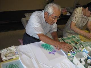 ファブリックステンシルの講習会とY田さんの誕生会をしました_c0134645_127379.jpg