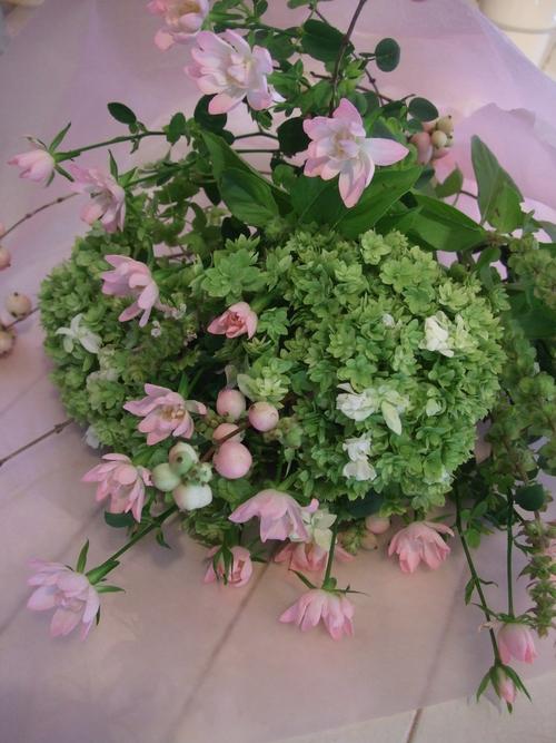 オークリーフ花の教室(秋の優しいピンクカラー)_f0049672_1929125.jpg