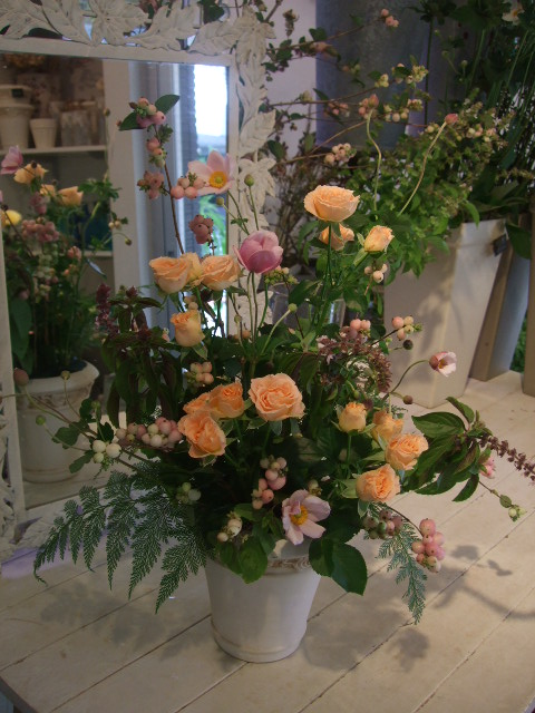 オークリーフ花の教室(秋の優しいピンクカラー)_f0049672_19415172.jpg