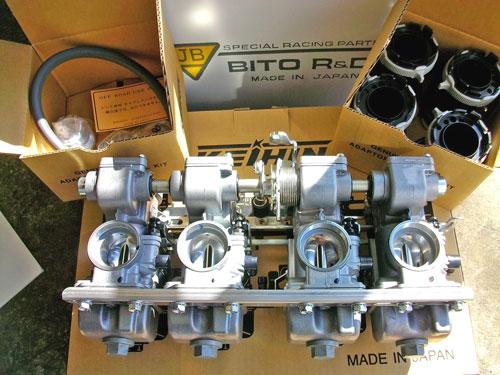 Z1000LTD ケーヒンCR31φキャブレター取り付け&セッティング!_c0086965_1221581.jpg
