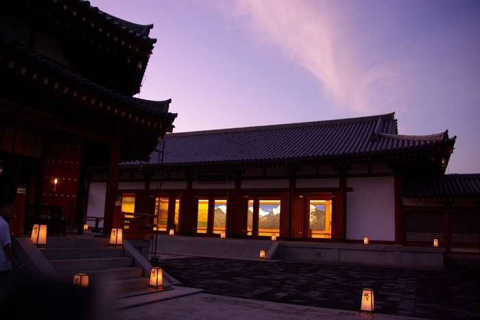 薬師寺観月会の荘厳なゆうべ/A solemn evening of Yakushiji Temple, Nara_e0140365_1274323.jpg