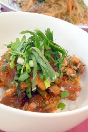 料理教室・・・韓国料理「カツオキムチ丼など」_f0141419_459956.jpg