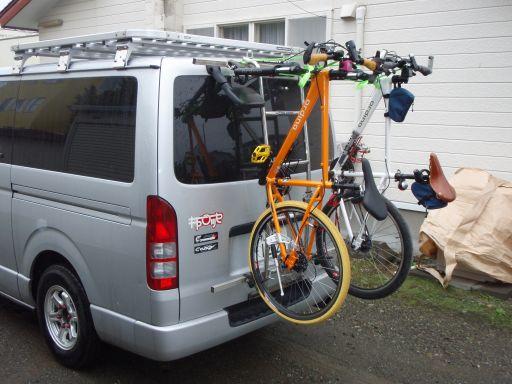 自転車の 自転車 キャリア 背面 : 自転車背面キャリアーハイ ...