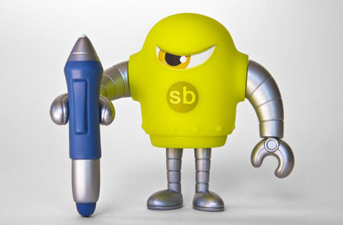 第4のSketchbotはスタイラスペンを持ったイエローグリーン。_a0077842_14411360.jpg