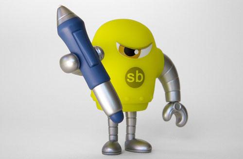 第4のSketchbotはスタイラスペンを持ったイエローグリーン。_a0077842_1441284.jpg