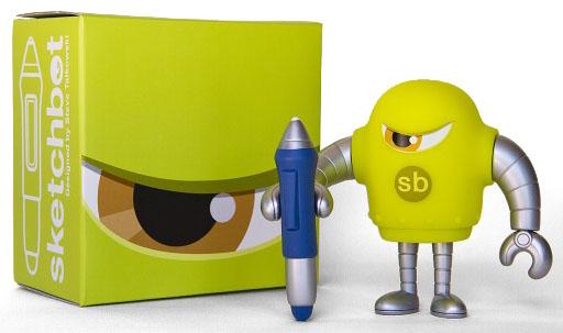 SKETCHBOT V4 Yellow-Green Ver. by Steve Talkowski_e0118156_14123478.jpg
