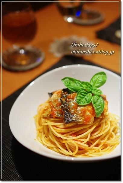秋刀魚のトマトスパゲティ_f0179404_21201640.jpg