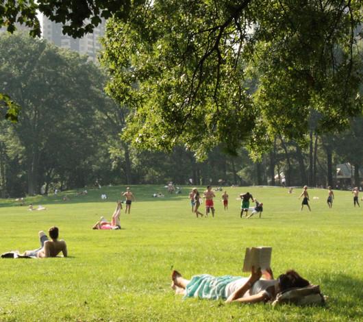 初秋のセントラルパーク、シープ・メドーの芝生でゴロ寝_b0007805_12331795.jpg