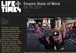 NYの街角で30名のモデルさんがEmpire State of Mindを熱唱するビデオ_b0007805_1434484.jpg