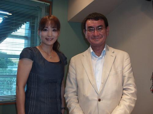 今月のゲストは河野太郎衆議院議員でした。_d0082655_2001319.jpg