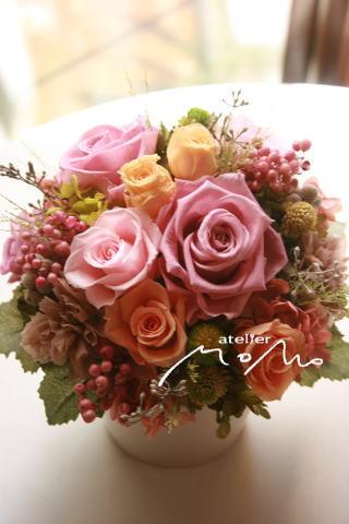 ピンク系2種類のアレンジ_a0136507_20365913.jpg