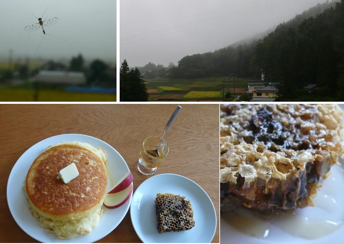 休みの日の朝 台風とパンケーキ_a0212730_946291.jpg