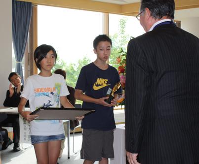 学校花壇コンクール表彰式と写真展_e0145841_17174927.jpg