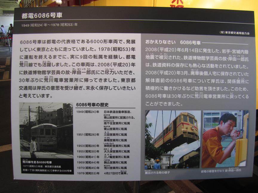 江戸東京博物館「東京の交通100年博」 ササラ電車・甦った6000形_f0030574_22445764.jpg