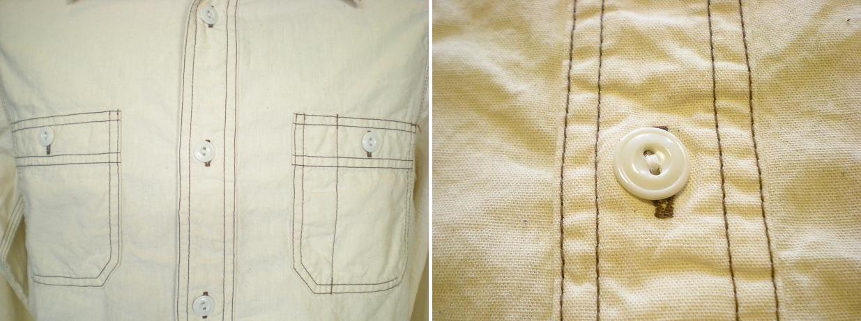 シャンブレートリプルステッチワークシャツ _d0160378_17152041.jpg