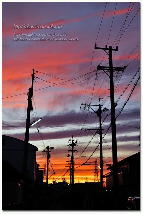 台風通過の後の夕景。_f0235723_19353971.jpg