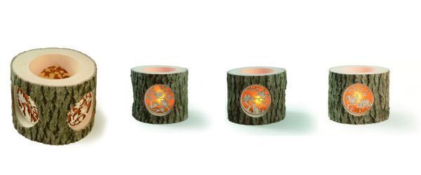 Wooden Candle Pots from Black Frorest Germany_d0217479_2127287.jpg