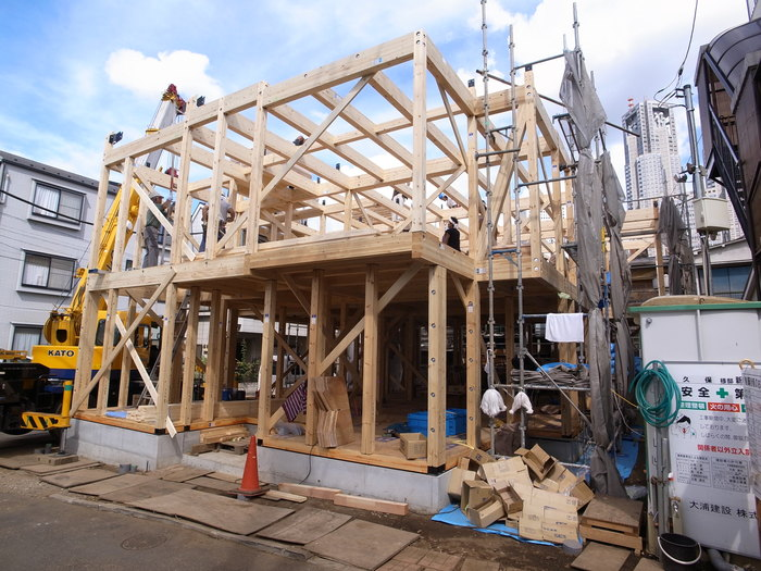 西新宿の家の建方_f0223603_737286.jpg