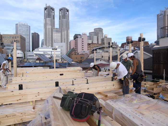 西新宿の家の建方_f0223603_7383624.jpg