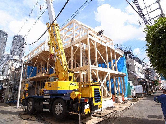 西新宿の家の建方_f0223603_7425787.jpg