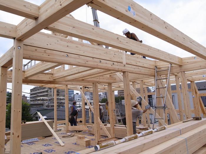 西新宿の家の建方_f0223603_7495524.jpg