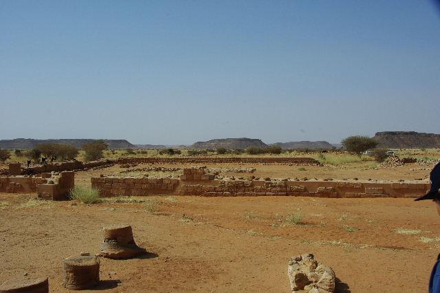 【スーダン周遊】 ムサワラット遺跡 (2) 黒ヤギの群れと遺跡_c0011649_23512896.jpg