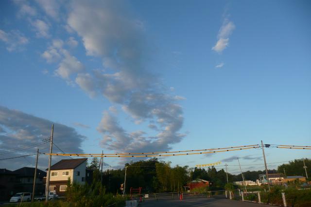 9月24日  筑波山・雲・牛久ー土浦バイパスの道路標識_d0249595_12242672.jpg