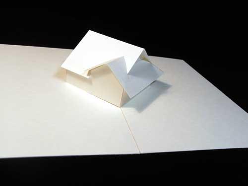クリスマス 折り紙:折り紙 家-arigozira.exblog.jp