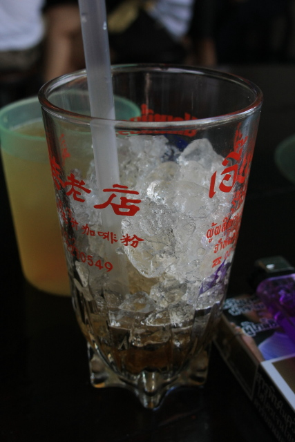 ヤワラート  おやじ喫茶、益生(イヤセー、Iea Sae)のオリジナルグラスを頂戴する_b0061717_1159474.jpg
