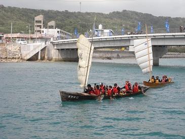 奥武島の帆掛サバニレース_d0100638_16425425.jpg