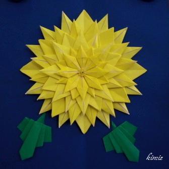 クリスマス 折り紙 折り紙 菊の花 : origaosiba.exblog.jp