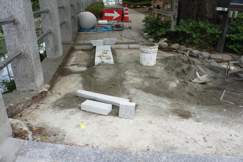 松戸神社 参道改修工事plus  2011.9.25_e0223769_2155260.jpg