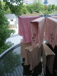 洗濯物を干すときは…赤桃黄緑青藍紫タオルをバランス良く! _f0140145_1037948.jpg