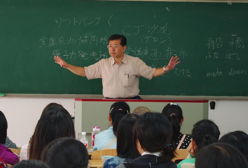 漢語角参加者越智優さん 湖南大学を訪問、学生に講演_d0027795_22514089.jpg