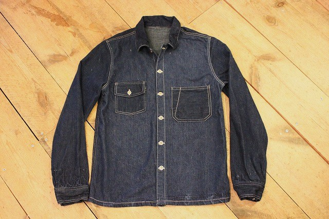 1920\'s style CUSTON DENIM SHIRT その3_d0121303_15285796.jpg